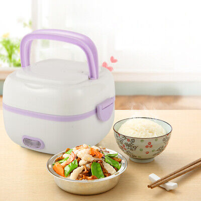 1L Stainless steel Moving Lunch Box Mini Rice Cooker Portable Food Steamer TOP
