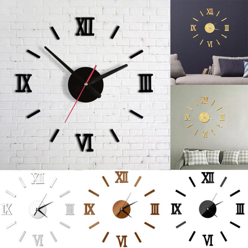 DIY Wall Clock Watch 3D Acrylic Art Stickers Decals Modern H