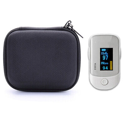 Finger Pulse-oximeter Pouch Portable Case Storage Pack Protective Bag Black