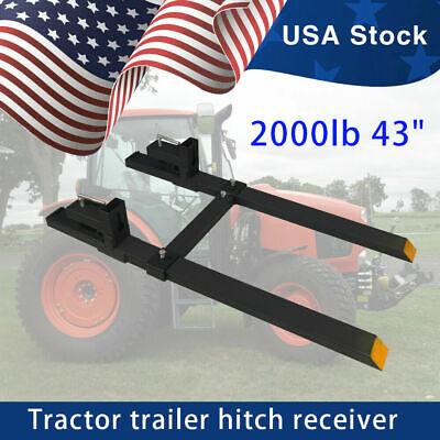 2000lb Tractor Pallet Forks Bucket Forks Clamp On For Backhoeskid Steer Loader