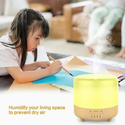 500ml LED Ultrasonic Aromatherapy Vital Oil Diffuser Fountain Air Humidifier