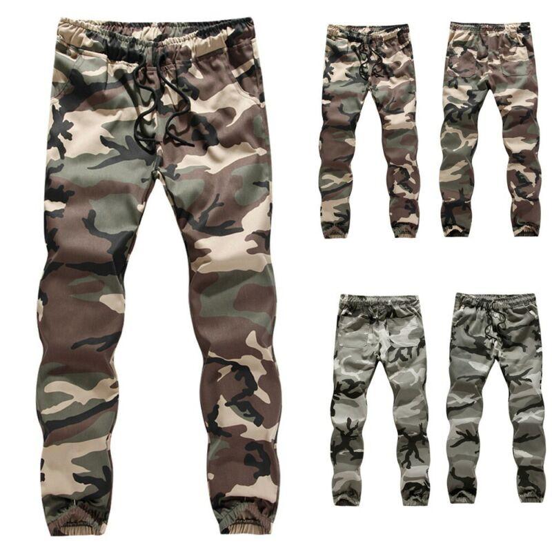 Mens Casual Jogger Camo Sportwear Baggy Harem Pants Slacks T