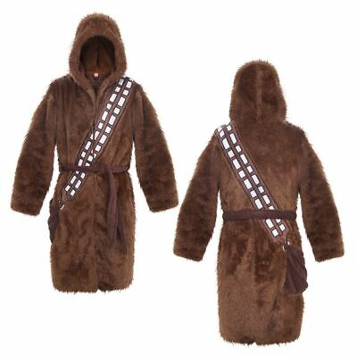 Star Wars Chewbacca Hooded Bathrobe Lounge Robe FREE STAR WARS ICE CUBE TRAY - Brown Hooded Robe