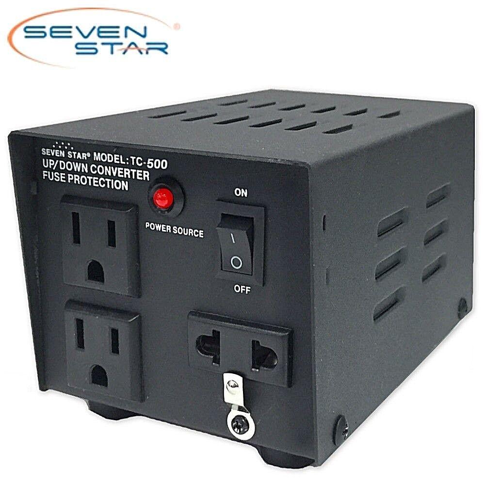 Details About Sevenstar Tc 500 Watt Step Up Down Voltage Converter Transformer 120v 220v Volt