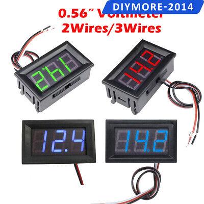 0.56 Digital Led Voltmeter Dc 5v-30v120v Ac 70v-500v 23wires Volt Amp Meter
