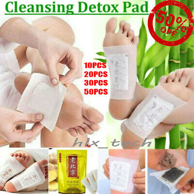 10-50Pcs Foot Patch Anti-Inflammation Swelling Ginger Herbal Detox Pads Healthy