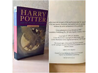 First Edition, Harry Potter and the Prisoner Of Azkaban, J. K. Rowling, Bloomsbury, 1999