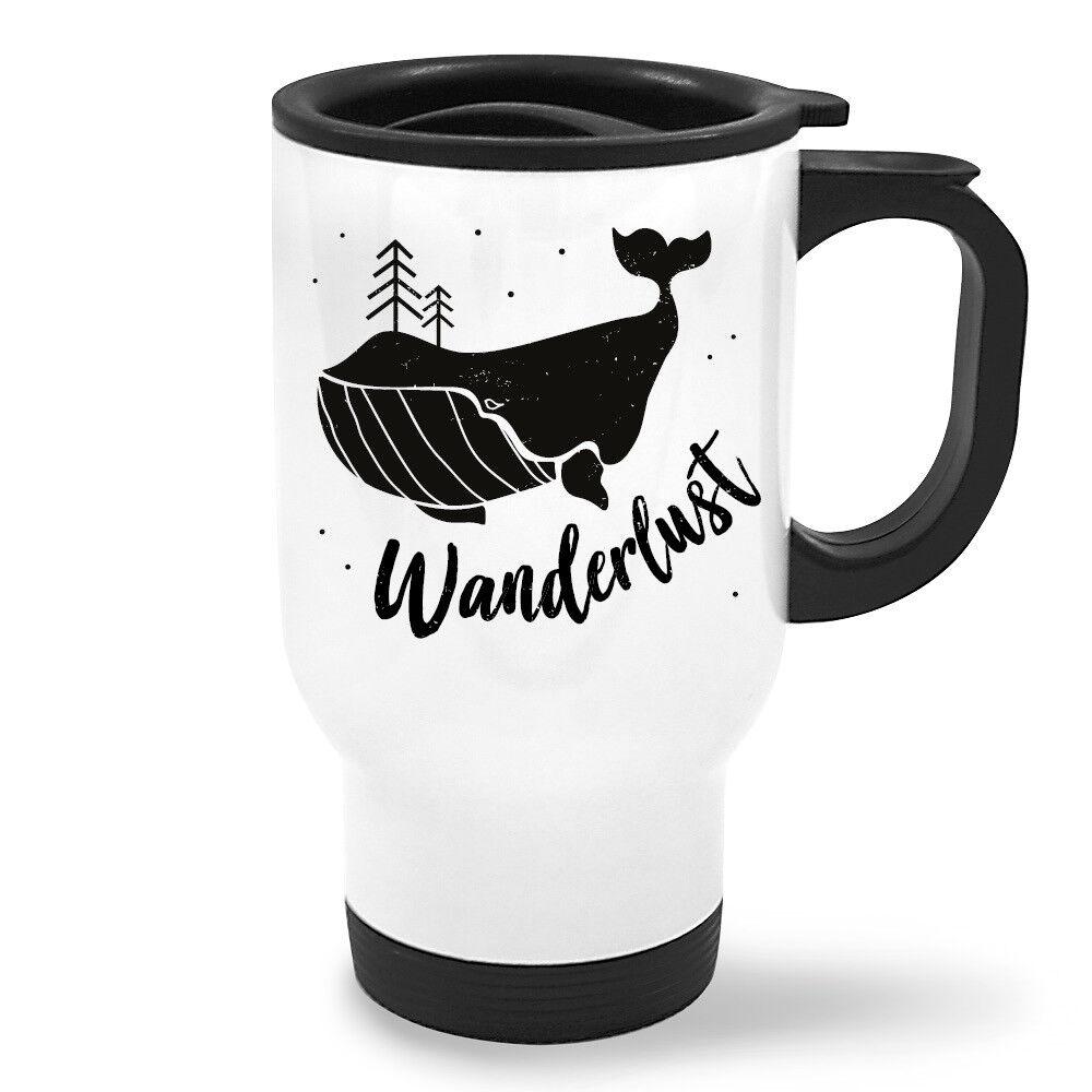 Thermobecher To Go Wanderlust Wal TB424 Kaffee Tee Fisch Reisen Wandern Fernweh
