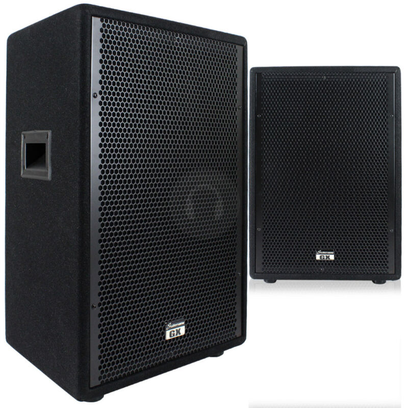 2x GX12 12 Inch Passive Speakers Venue Stage Theatre 1600W UK Seller UK Stock