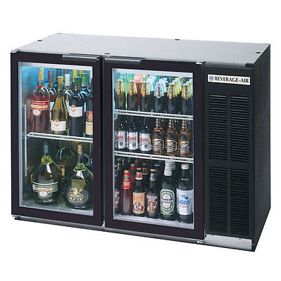 Beverage Air Bb48gy-1-b 48-inch Back Bar Cooler With 2 Glass Doors Ul Cul Ul