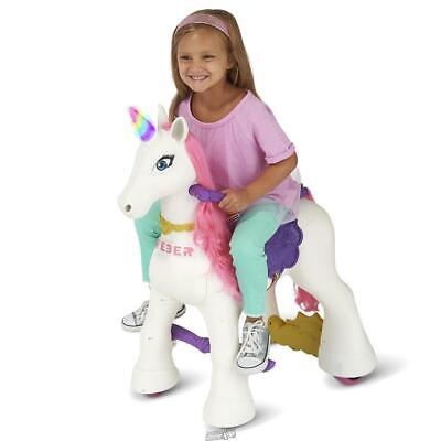 Feber My Lovely Unicorn Enchanted Electric Ride On Toy Light up Horn Famosa