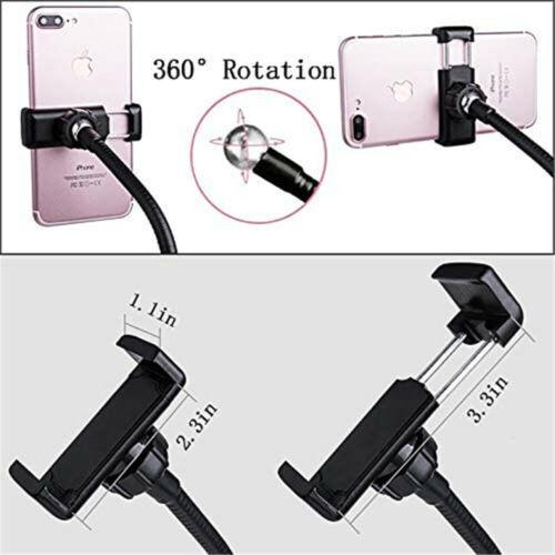 LED Selfie Ring Light Phone Holder Flexible Stand Long Arm for Stream Live Lamp Cameras & Photo