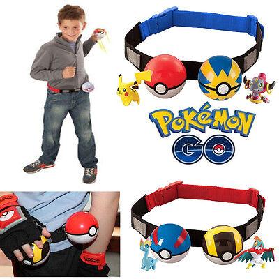 Pokemon Clip n Carry Kids Adjustable Poke Ball Belt Hot Gift Pretend Play Game