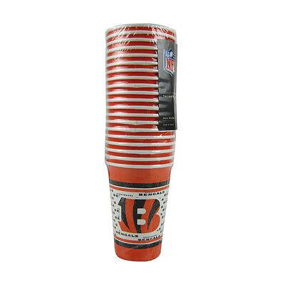 Cincinnati Bengals Party Supplies (New NFL Cincinnati Bengals 20 Disposable 16oz Paper Cups Party-Ware)