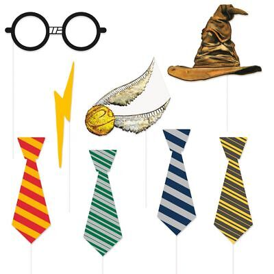 HARRY POTTER Photo Booth Props Kit Party Decorations Pictures Golden Snitch HAT