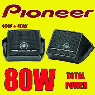 PIONEER 80W TOTAL BOX TYPE SHELF REAR DECK CAR/VAN/CARAVAN/BOAT/POD SPEAKERS NEW