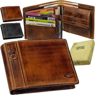 Camel Leder Geldbörse (CAMEL ACTIVE Herren Brieftasche Portemonnaie Geldbeutel Geldtasche Geldbörse 77)