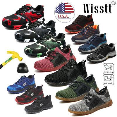 Mens Safety Work Shoes Indestructible Steel Toe Ventilation Bulletproof Boots M