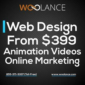 PROFESSIONAL WEBSITE DESIGN. WEB DEVELOPMENT. SEO. WEBSITE MAINTENANCE - FROM $399