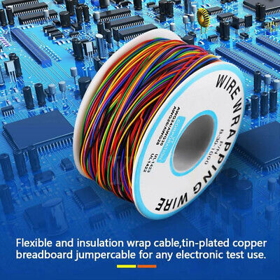 8 Wire 280m Colored Insulated Pn B-30-1000 30awg Wire Wrapping Cable Wrap Reels