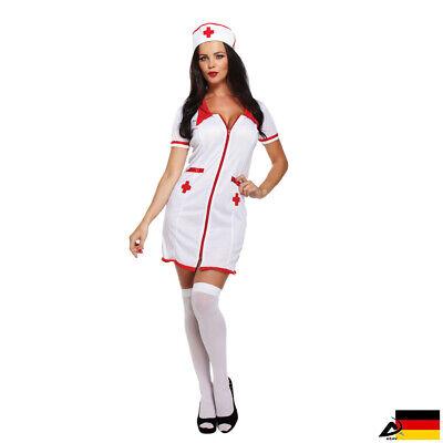 Sexy Krankenschwester Kostüm Halloween Karneval Fasching Kleid JGA Nurse Ärztin
