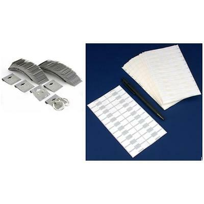 Gray Flocked Earring Display Cards Adhesive Jewelry Price Tags Kit 600 Pcs