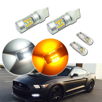 Switchback LED Kit For 2015&up Ford Mustang as Daytime Running Light/Turn Signal Ford Mustang Dual Led