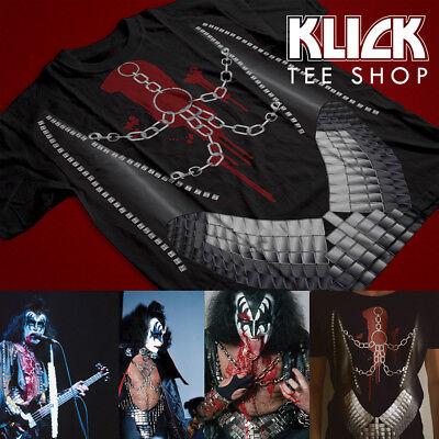 KISS band Gene Simmons '77 Love Gun Costume Replica T-Shirt XS, S, M, L, XL, 2XL](Gene Simmons Costume)