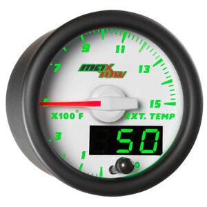 MaxTow 52mm White Double Vision 1500°F Diesel Pyrometer EGT Gauge  MT-WDV08-1500
