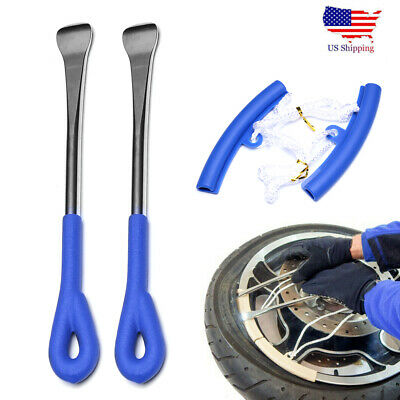 4PC Tire Change Tool Kit With Spoon Lever Rim Protector For Motorcycle & Bicycle