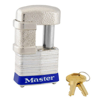 Master Lock 37ka 1-916 Wide Armored Padlock W Shackle Guard Keyed Alike