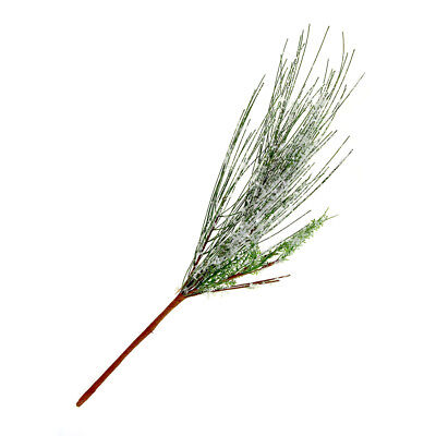 Frosted Snowflake Pine Needle Pick Christmas Holiday Decoration, 18-Inch - Needle Pine Pick