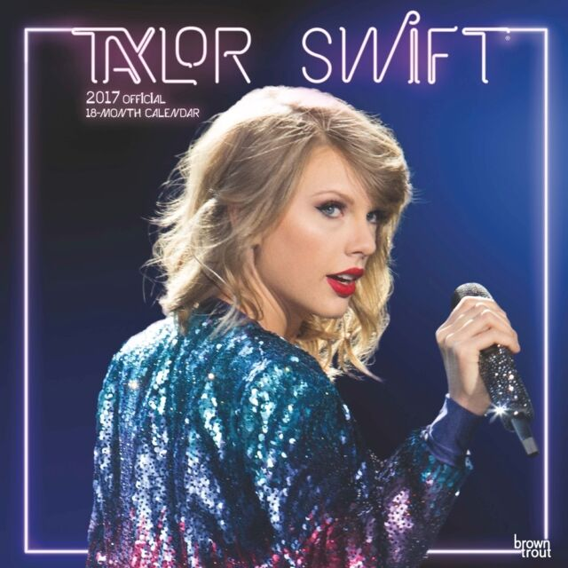 Taylor Swift Official 2017 Wall Calendar NEW by Browntrout