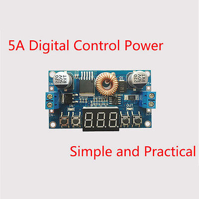 Digitale Power Control (5A Digital Control Power Supply DC-DC Step-Down Charge Module LED  Voltmeter New)