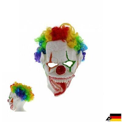 Regenbogen Gruselige Clown Perücke Maske Böse Horror Halloween - Gruselige Clown Maske