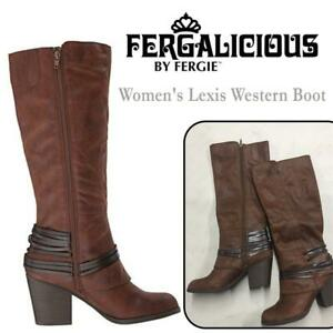 NEW Fergalicious Womens Lexis Western Boot Condtion: New, Cognac, 7