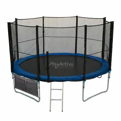 6FT 8FT 10FT 12FT 14FT Trampoline With Enclosure Rain Cover Safety Net Ladder UK