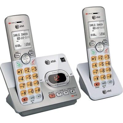 Home Phone Cordless Answering Machine System Telephone Caller ID Wait 2 Handsets