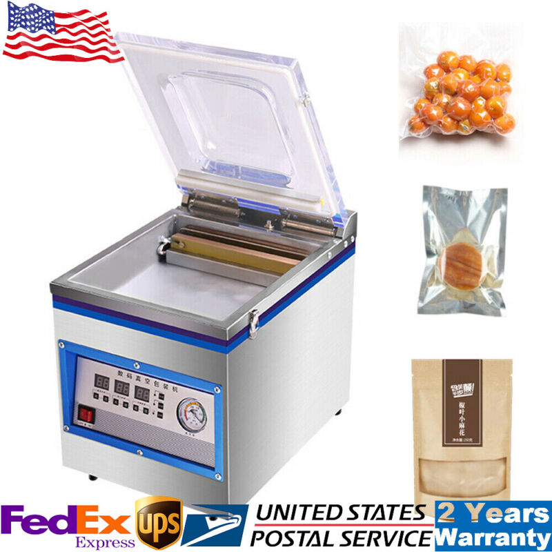 Vacuum Sealer 360W Commercial Food Chamber Semi-vacuum Sealing Packing Machine