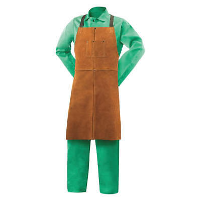 Split Cowhide Wkevlar Welding Bib Apron Length 36 Adjustable Nylon Straps