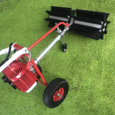 1.7hp Gas Power Handheld 2 Wheel Sweeper Floor Broom Sweepe Machine Cleaning New