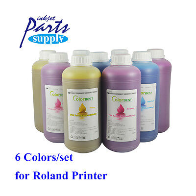 6colors X 1000ml Roland Eco Solvent Ink Eco Max Ink Bulk Ink For Xj740640xc540