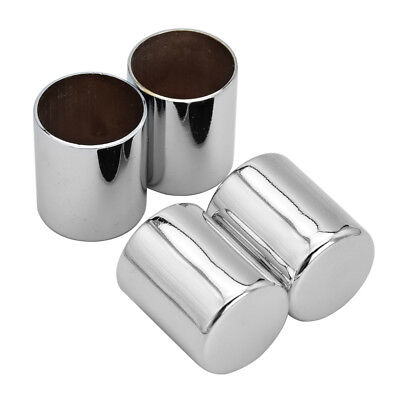 - 4x Chrome Docking Hardware Point Covers Kit Fit for Harley Dyna Touring Models