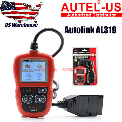 Autel Autolink AL319 Code Reader Scanner OBD2 Diagnostic Tool with Color Screen