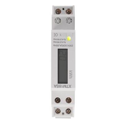 LCD Wechselstromzähler Stromzähler 1 Phase Wattmeter 5(50)A KWH Hutschiene TE746