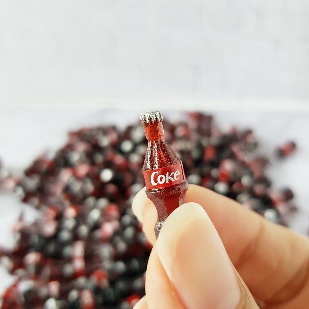 10x COCA-COLA COKE Bottle Dollhouse Miniature Food Soda Beverage Drink Wholesale