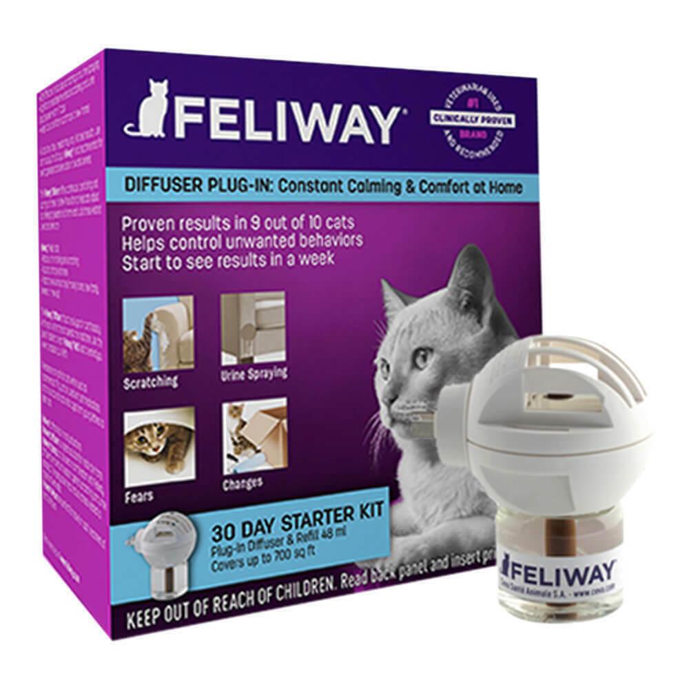 Feliway Starter Kit, Diffuser with 48 ml Refill - 50% savings | 06/30/2020
