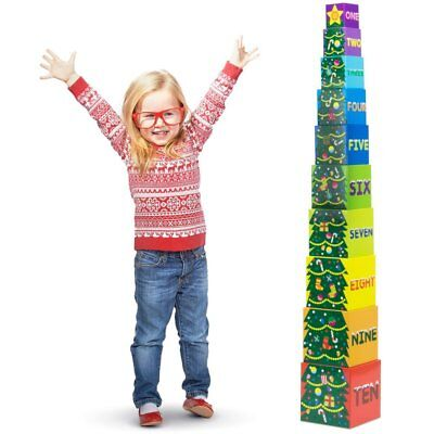 Christmas Tree Nesting Blocks | Boxes for Stacking, Counting & Sorting