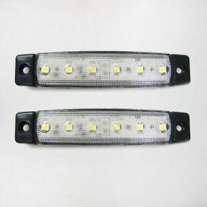NUEVO-2x-24v-LED-Lateral-Transparente-Luces-de-marcaje-Luz-Camion-Trailer-caja