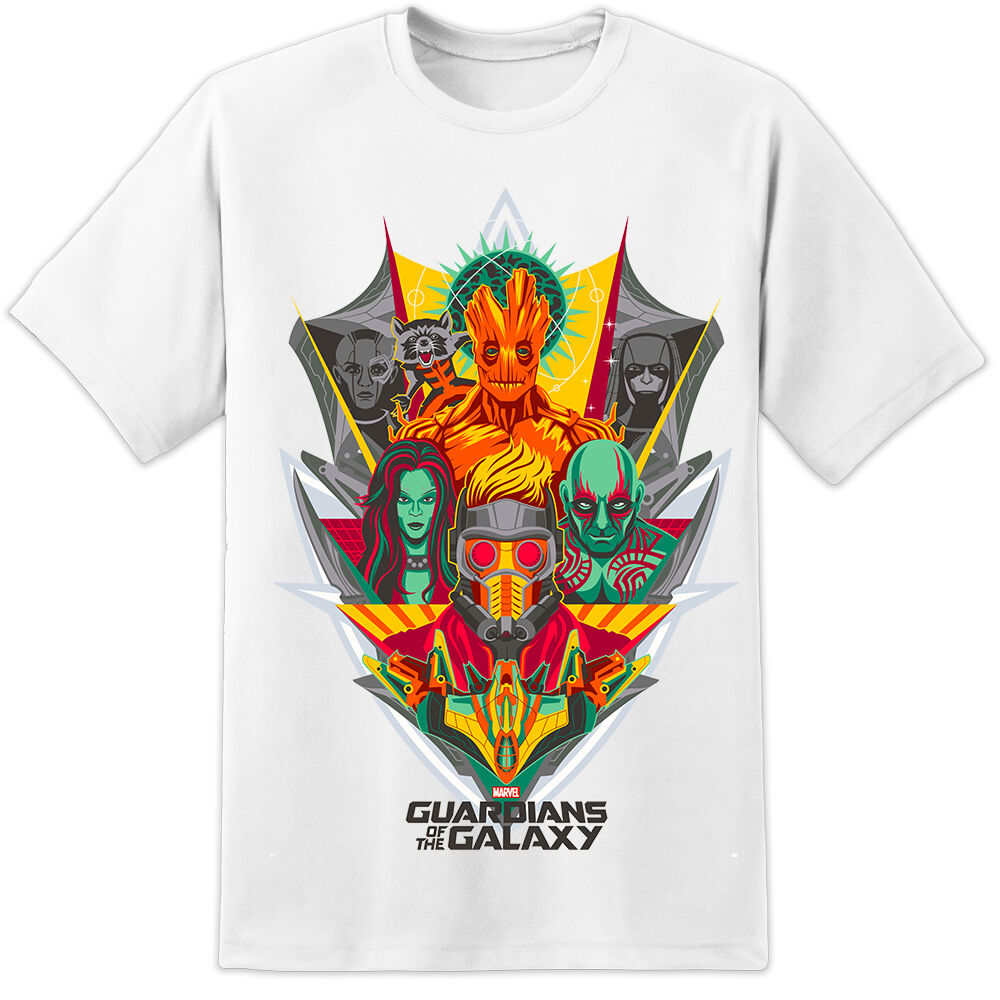 NEW GUARDIANS OF THE GALAXY COLOUR  T-SHIRT